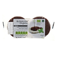 Bunalun Organic Dark Chocolate & Mint Rice Cake 100g