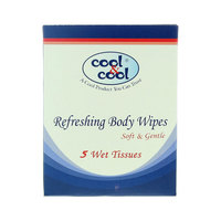 Cool & Cool Refreshing Body Wipes 5 Wipes