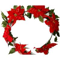 Chamdol Christmas Garland W/Flower 30Cm