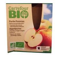 Carrefour Bio Organic Apple Sauce 90gx4