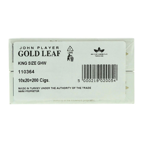 John-Player-Gold-Leaf-200/20-Cigarettes(Forbidden-Under-18-Years-Old)