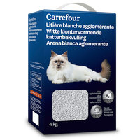 Carrefour  White Litter 4Kg
