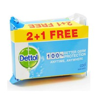 Dettol Wipes Cool 20 Sheets 2+1 Free