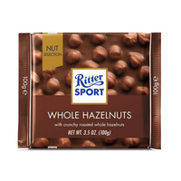 Ritter Sport Chocolate With Milk Hazelnuts 100GR