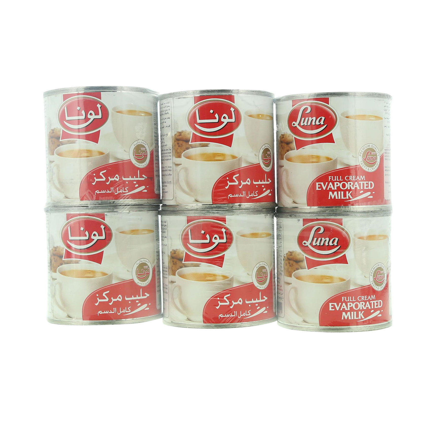 LUNA EVAPORATED MILK 170GR X6