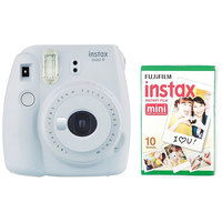 Fujifilm Instant Film Camera Instax Mini 9 White + Single Pack Film