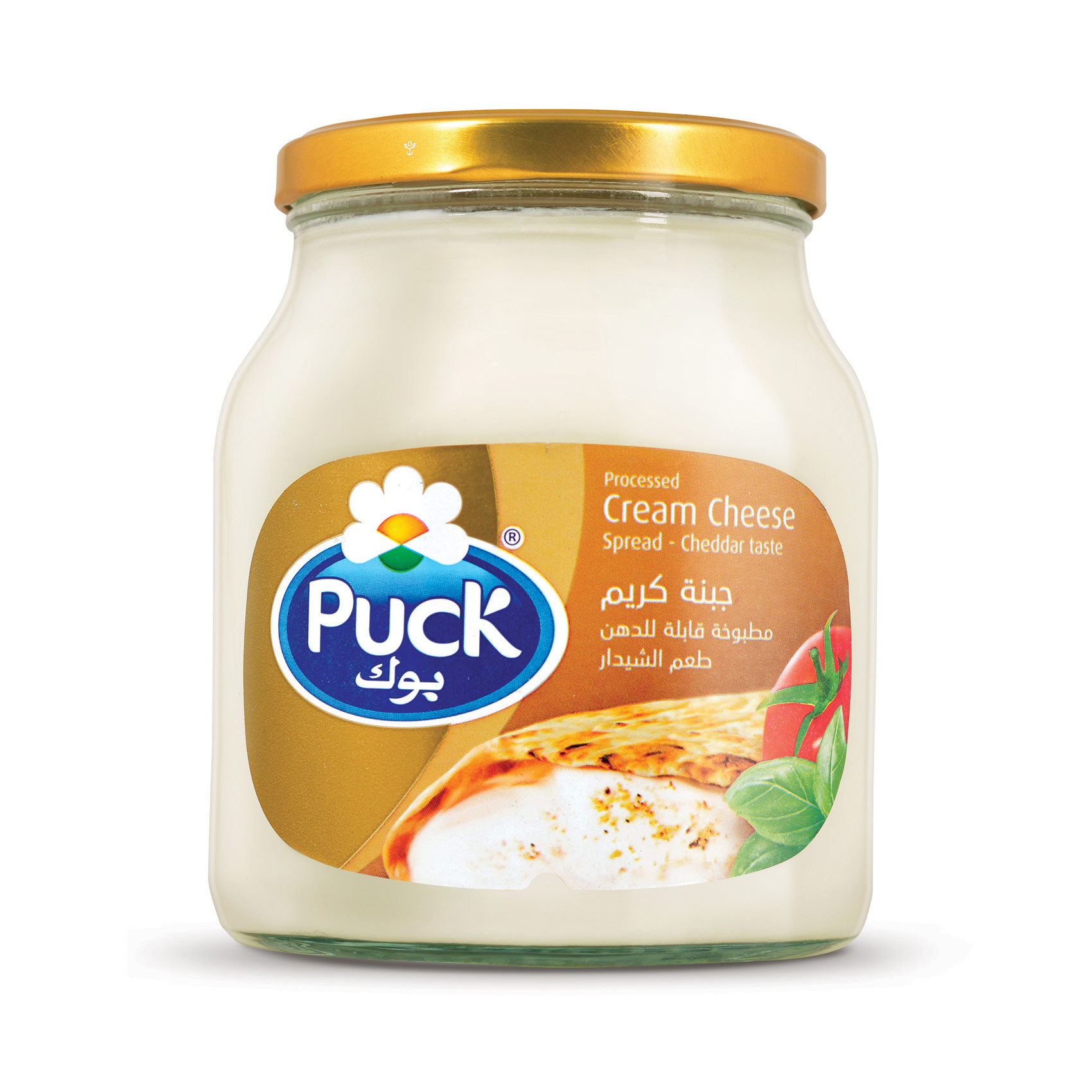 Puck Processed Cream Cheese Spread Cheddar Taste 910g