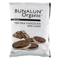 Bunalun Organic Mini Milk Chocolate Rice Cakes 60g