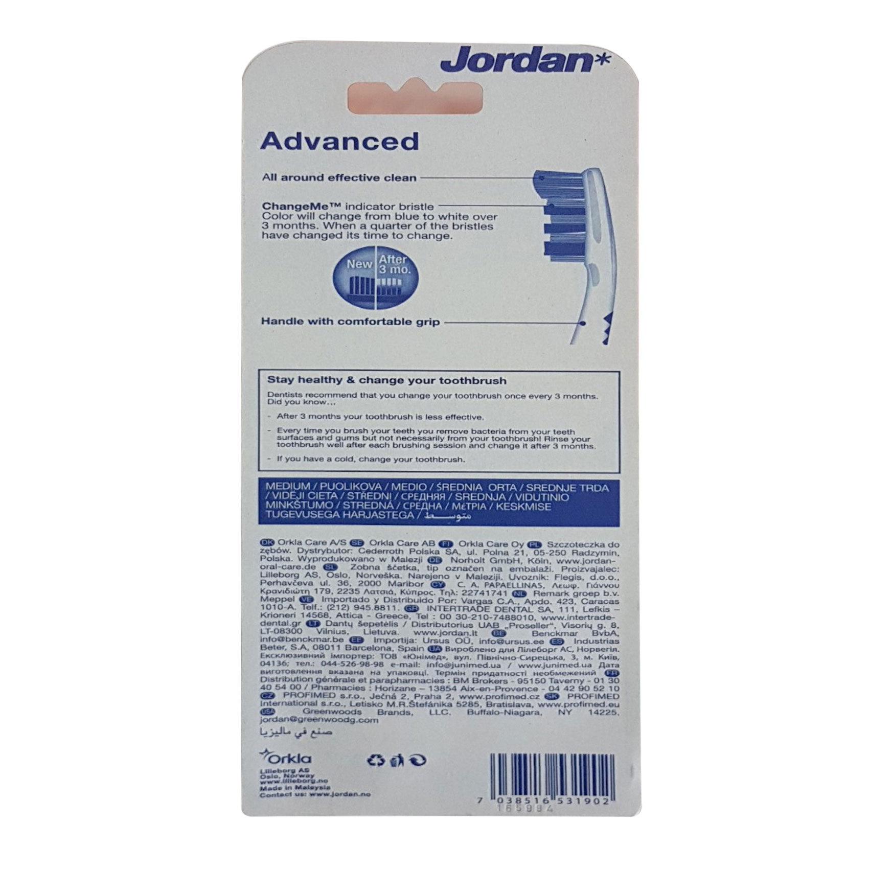JORDAN TB ADVANCED CLEANING 3 MED