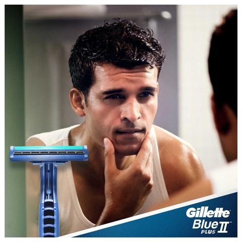 Gillette-Blue-II-Plus-Men's-Disposable-Razors,-10-count