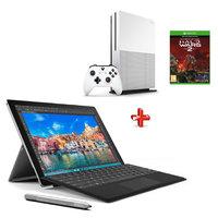 Microsoft 2 in1 Surface i5-6300U,4GB RAM,256GB SSD+Xbox One S 1TB Console+Halo Wars 2 Game
