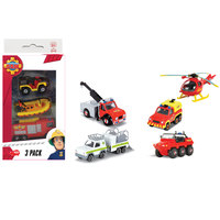 Dickie - Fireman Sam 3 Pack - Assorted