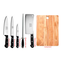 Feelings Knife Set 5Pc With Wooden Cutting Board
