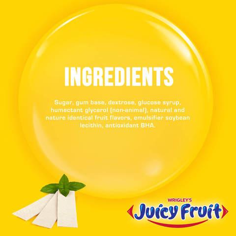 Wrigley's-Juicy-Fruit-Gum,--5-sticks