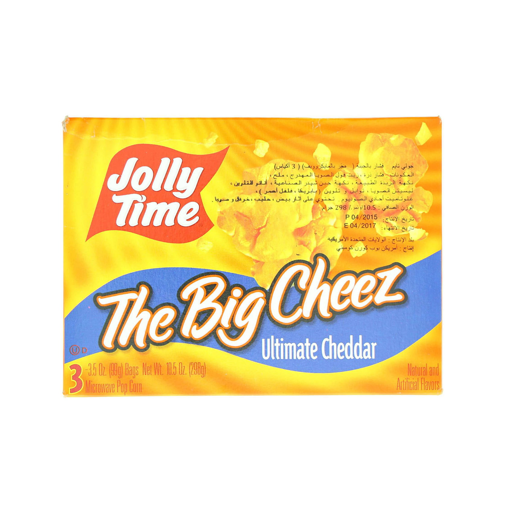 JOLLY TIME M.WAVE CHEESE 298 GM