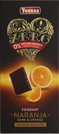 Torras Gluten Free Dark & Orange 125g