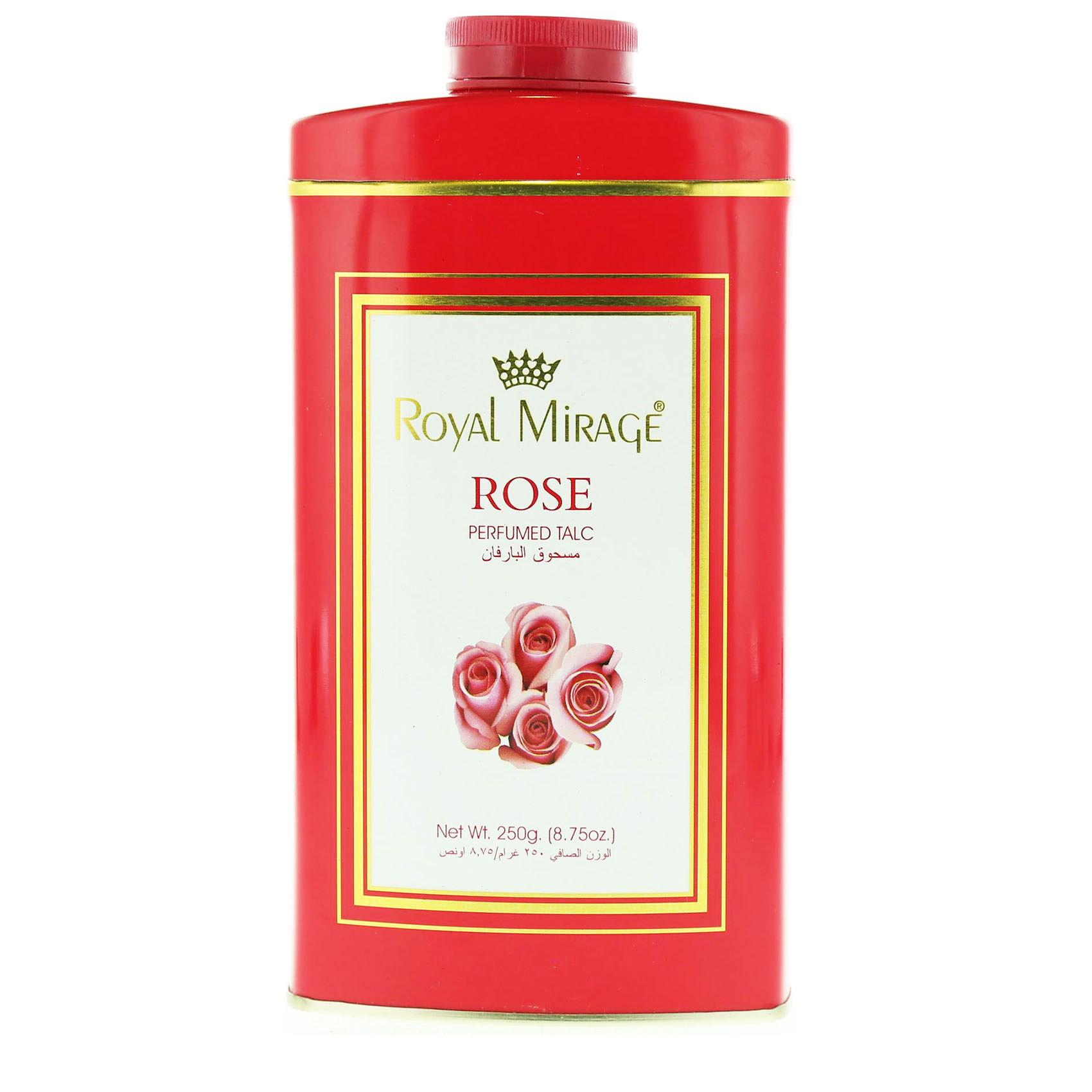 ROYAL MIRAGE TALC ROSE 200GM