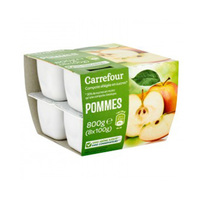 Carrefour Dessert Mashed Apple 100GR X 8