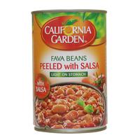 California Garden Fava Beans Peeled With Salsa 450g