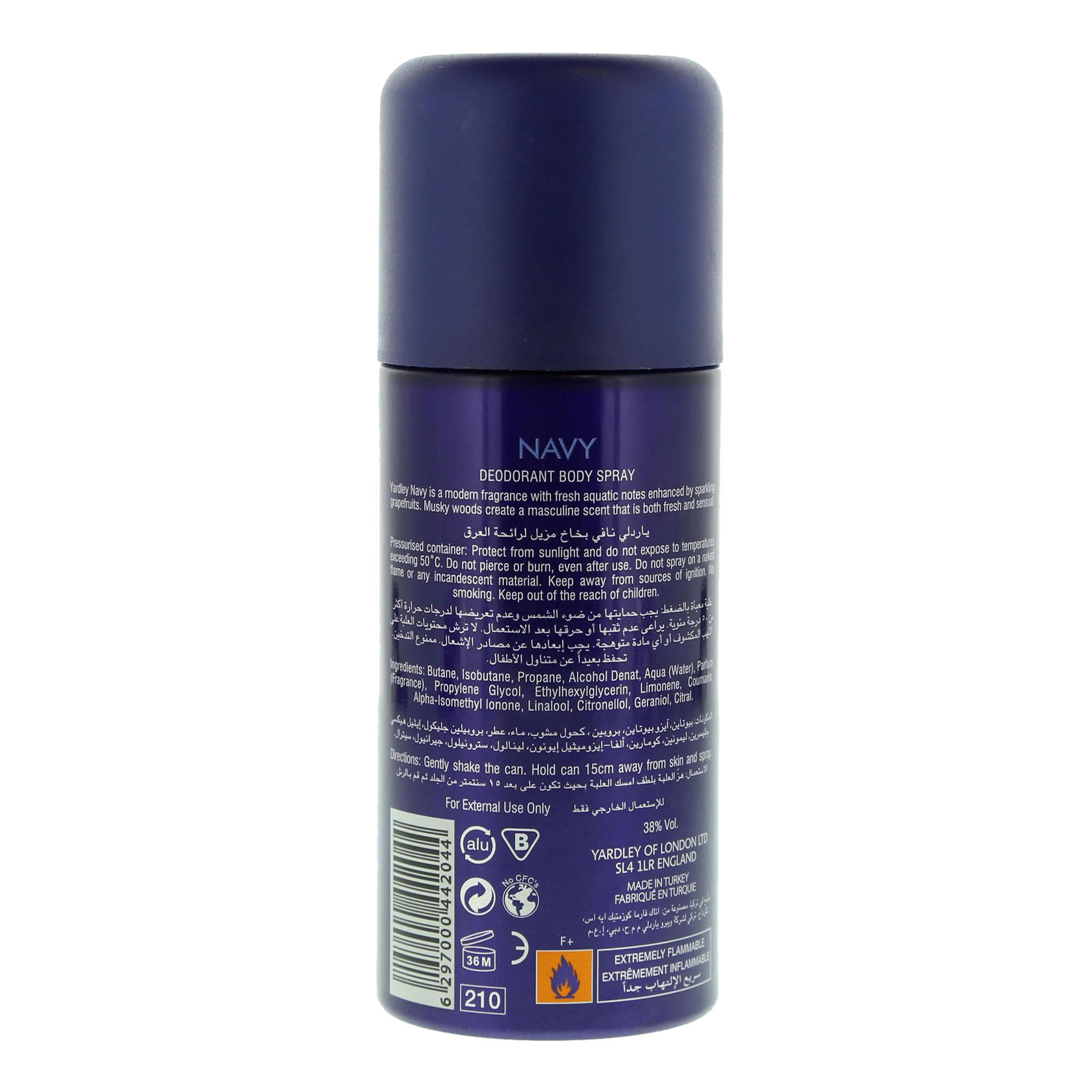 YARDLEY DEO NAVY (M) 150ML