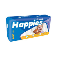 Happies Diapers Giant Pack + Regular + Mattress Size 2