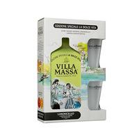 Villa Massa Limoncello Liqueur 70CL + 2 Glass