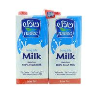 Nadec Low Fat Long Life Milk 1Lx4
