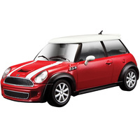 Burago Mini Cooper S, Red 1/24 scale Die cast