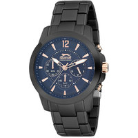 Slazenger Men's Chronograph Display Blue Dial Black Stainless Steel Bracelet - SL.9.6007.2.03