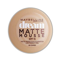 Maybelline Fondation Dream Matte Mousse Cameo No 020 + Brush Free