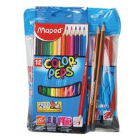 Maped 12Felt Pen+12 Color Pencil + 2Hb Pencil