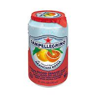 San Pellegrino Sparkling Juice Can Aranciata Rossa Orange 33CL