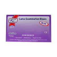 Rz Latex Gloves 100 Pieces Medium Blue