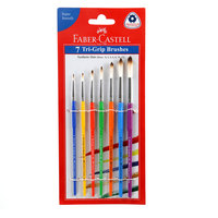 Faber Castell Tri Grip Paint Brushes Round Set Of 7