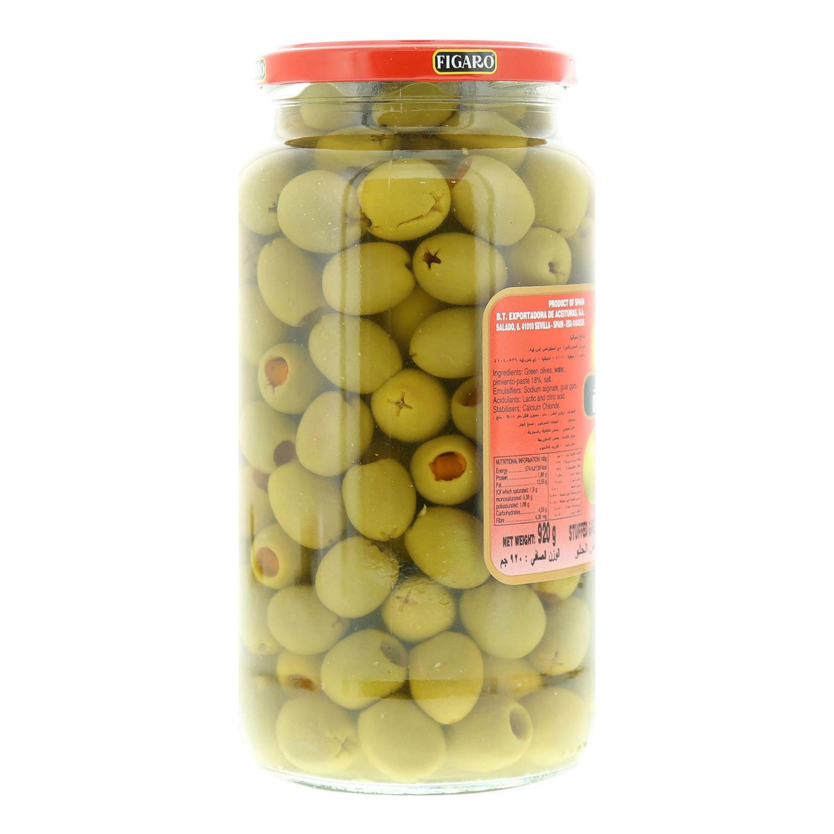 FIGARO STUFFED GREEN OLIVES PIMI 92