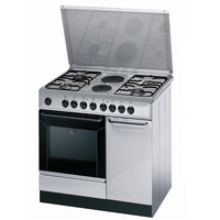 Indesit 90X60 Cm Gas Cooker K9B11SXI 4Burners and 2 Electric