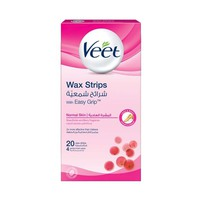 Veet Wax Strips Normal Skin 20 Strips 33% Off