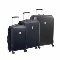 Delsey Misam 4-Wheel Trolley Set 3Pcs Black