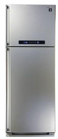 Sharp Digital Refrigerator With Plasma Cluster, No Frost, 2 Doors, 450L, Silver - SJ-PC58A(SL)