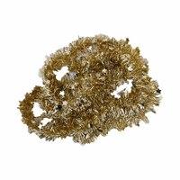 Christmas Star Tinsel Garland 5 Cm Gold