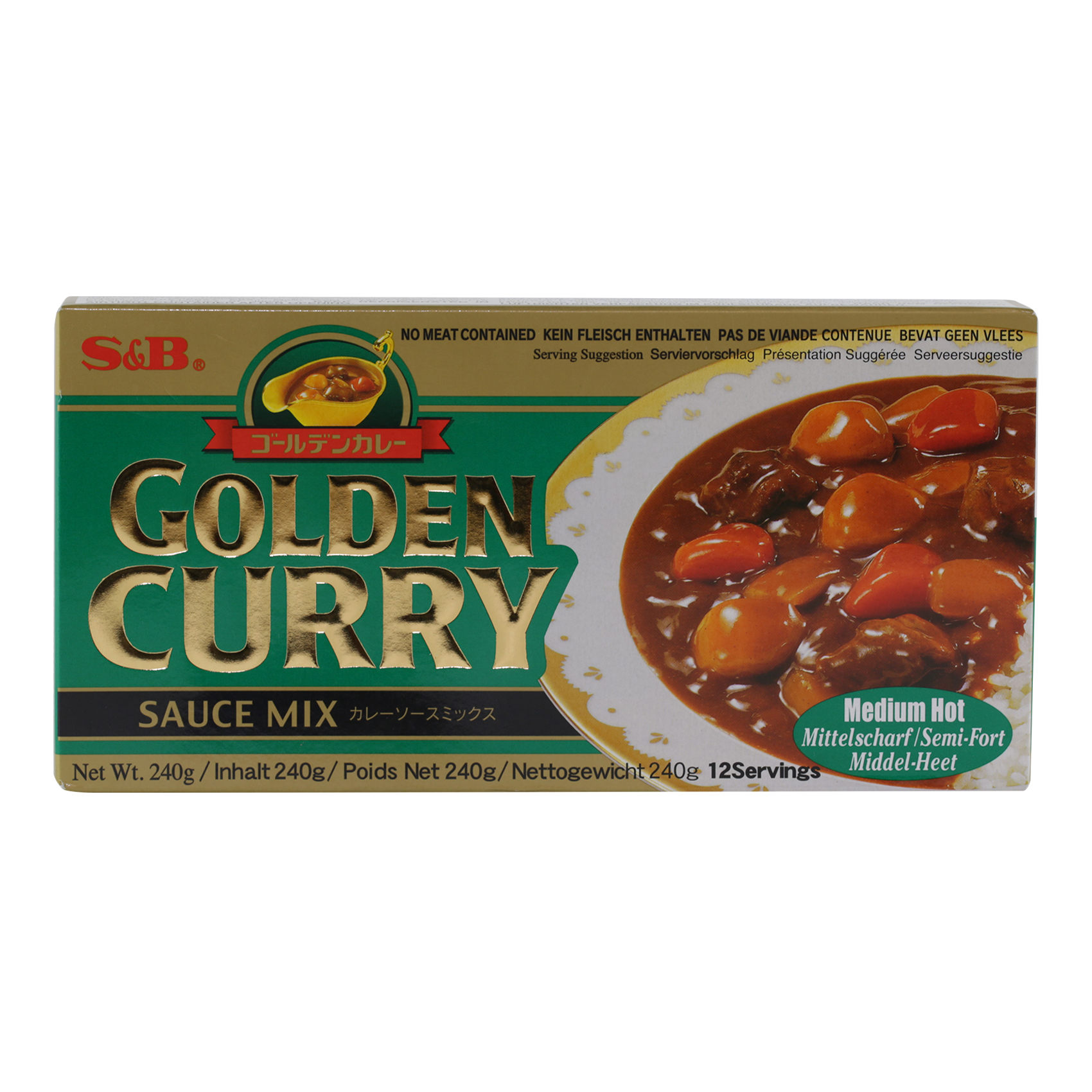 S&B GOLDEN CURRY MIX M-HOT 240G