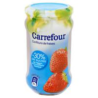 Carrefour Jam Strawberry light 340g