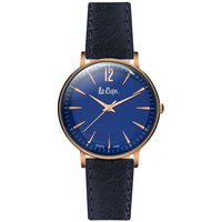 Lee Cooper Women's Watch Analog Display Blue Dial Blue Leather Strap - LC06378.499