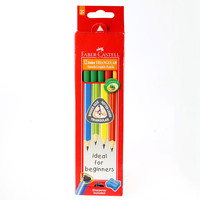 Faber Castell Junior Grip Triangular Black Lead Pencils 12'S