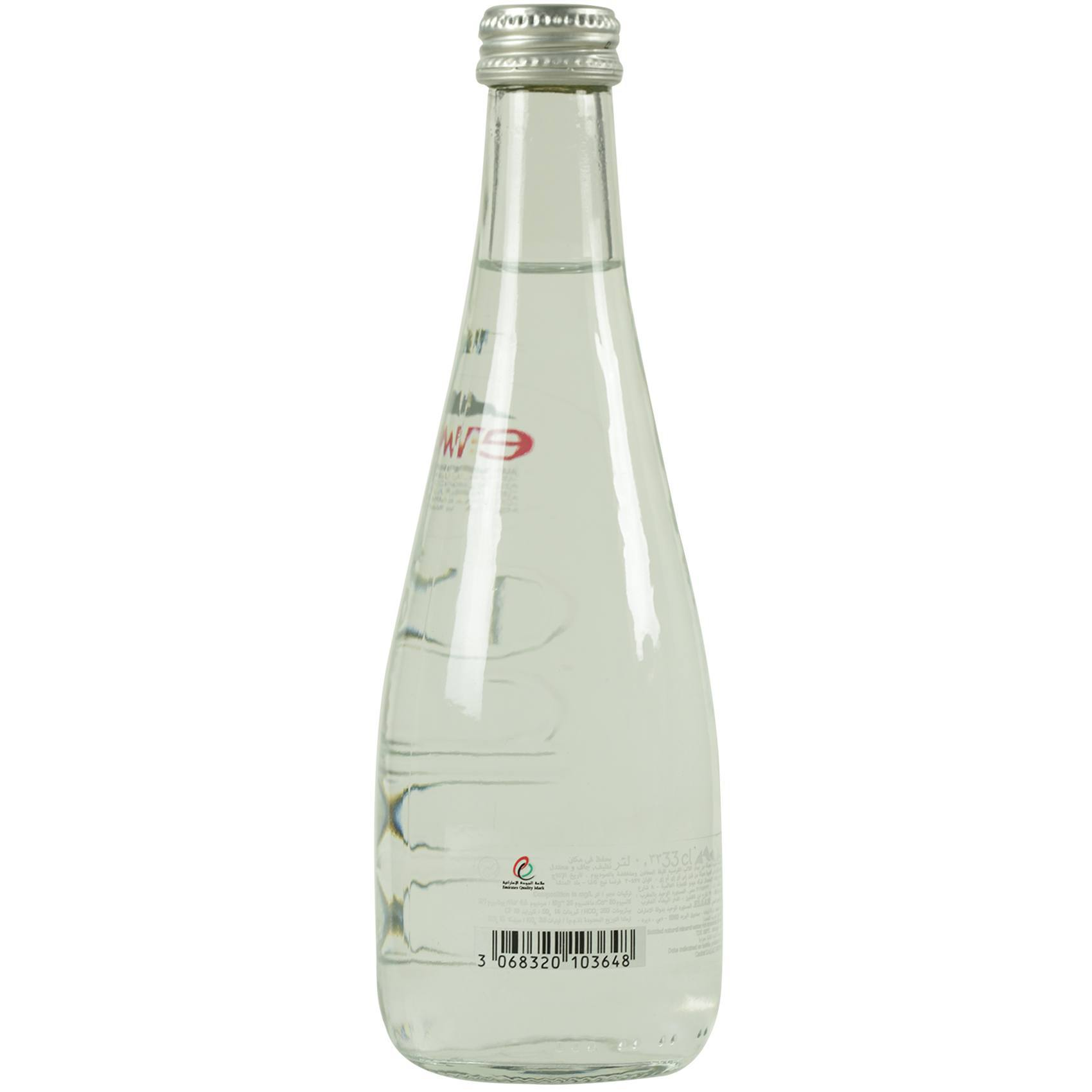 EVIAN MINERAL WATER GLASS 330ML
