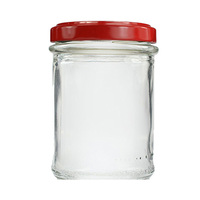 Small Glass Jar With Red Cover