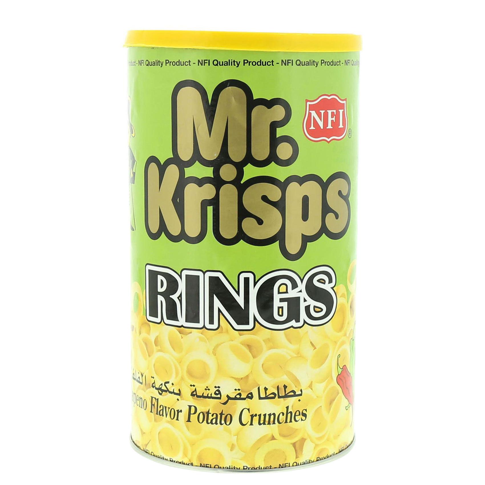MR KRISPS RINGS JALAPENO CAN 65G