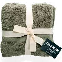 Cannon Face Towel 4pc set Sage 33X33cm