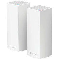 Linksys Wireless Modular True Whole Home Wi-Fi Mesh System WHW0302 Velop Tri-Band AC4400  Pack of 2