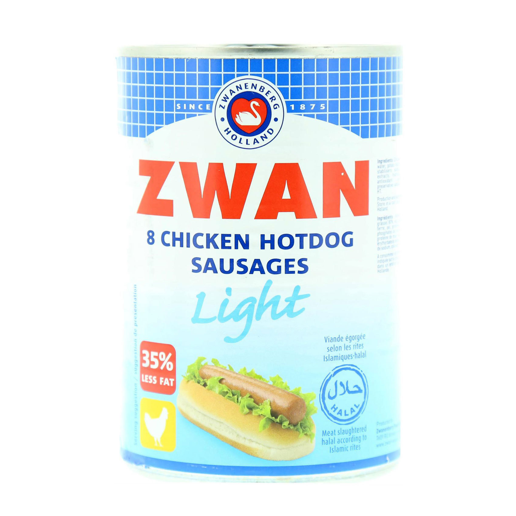 ZWAN CHICKEN HOT DOG LIGHT 184G